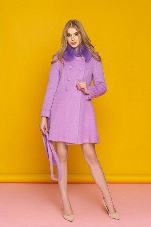 """Пальто """"Р-27"""" (фиолетовый)"""