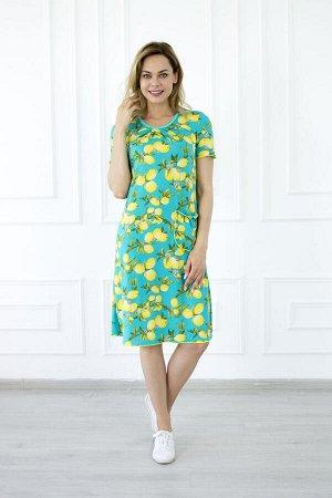 Платье женское лимон зеленый