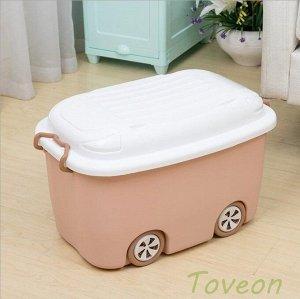 Корзина большая, для хранения детских игрушек 013-1 персик
