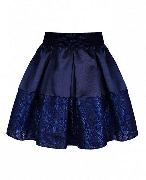 Синяя школьная юбка для девочки в складку 83139-ДНШ19