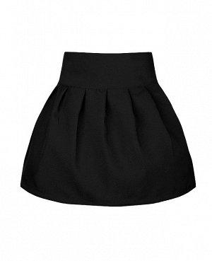 Юбка для девочки из костюмной ткани,чёрный 71731-ДШ19
