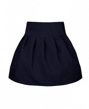 Юбка для девочки из костюмной ткани, синий 71732-ДШ19