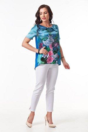 Блуза Нимфа (синяя) Б843-1