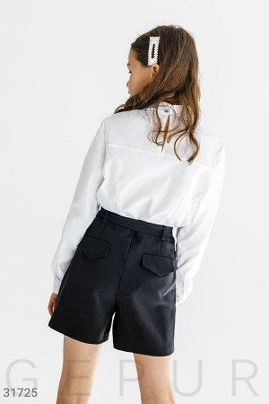 Блуза с контрастными лампасами