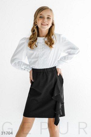 Актуальная юбка с воланом