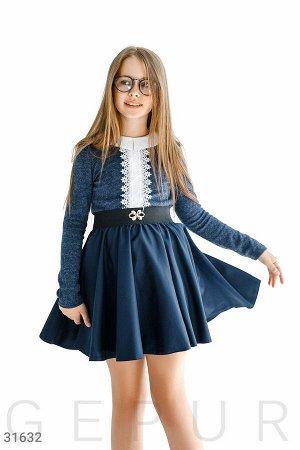 Расклешенная юбка с декором