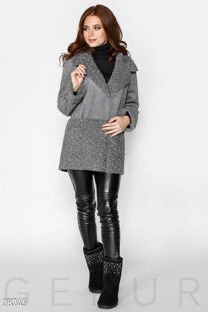 Комбинированная куртка-дубленка