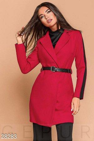 Двухцветное кашемировое пальто