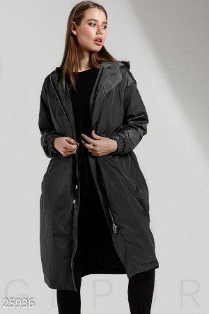 Удлиненная куртка-ветровка
