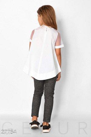 Детская блуза-клеш
