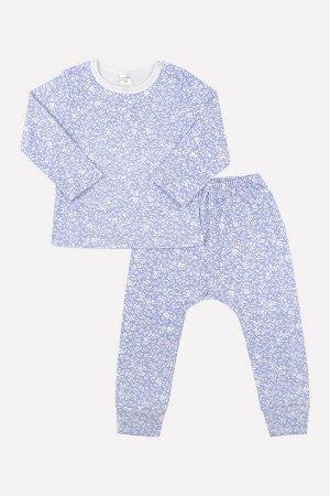 Комплект для девочки Crockid К 2597 цветы на светло-голубом