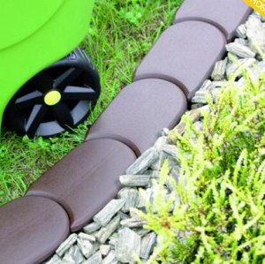 Бордюр для сада Palisada 3.8 м- коричневый