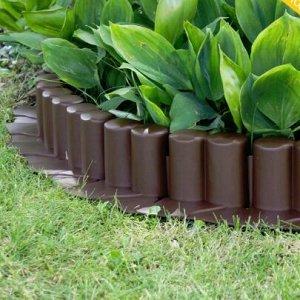 Бордюр для сада Palisada 4.05м 8шт. ц. коричневый