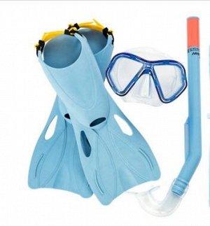 Набор для плавания. Ласты, очки, трубка.