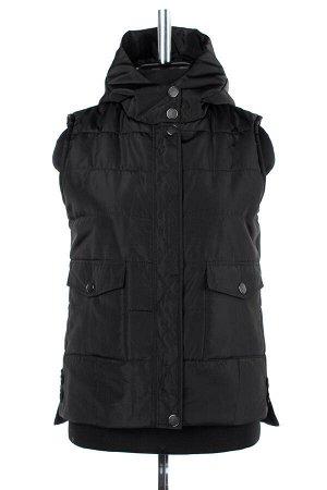 04-2306 Куртка демисезонная (синтепон 150) Плащевка черный