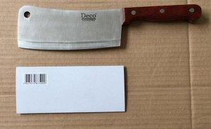 Нож - тяпка , арт. РС-115, деревянная ручка , длина лезвия 16*толщина лезвия 0,3* ширина лезвия 7см