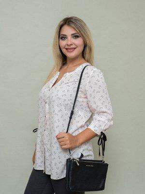 Блуза Кошечка кремовый черный