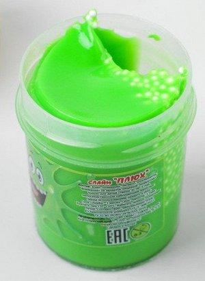 0179/7218GRTU 40g Слайм-Плюх зеленый с шариками туба 40 грамм