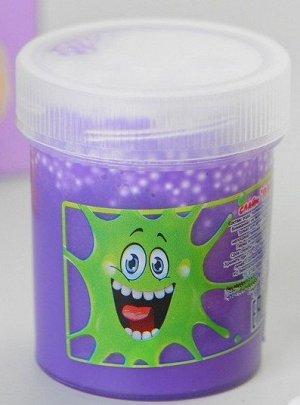 0445/7218FITU 40g Слайм-Плюх фиолетовый с шариками туба 40 грамм