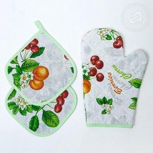 Набор для кухни №2 Конфитюр - рогожка Прихватка 3шт