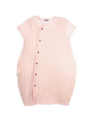 Платье 978А бело-розовый