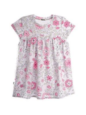 Платье 980А серо-розовый