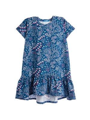 Платье 892А9 сине-белый