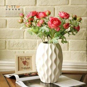 Ваза Керамическая глиняная ваза, размер 21*8,5 см