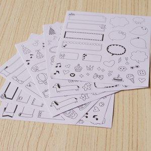Наклейки Декаоративные наклейки в комплекте 6 листов