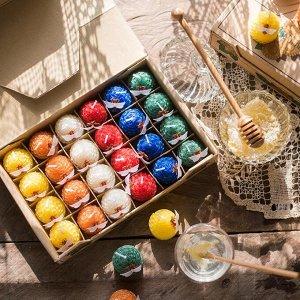 Свеча Подарочная коробка свечей, размер коробки 25*16*4,5см, размер свечи 3,5*4,5см