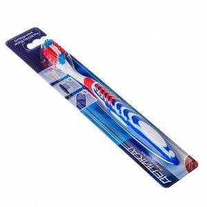 Зубная щетка Деликат, пластик, резина, средняя жесткость, индекс 5, степень 6 в ассортименте