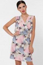 Платье Milena PL-1630F абстракция розовый