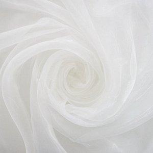штора Органза 300*260 см со шторной лентой белая