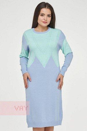Платье женское-. Цвет: 231/12-5209 голубой/ментол