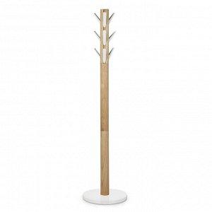 Вешалка напольная Flapper, белая-дерево