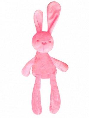 Мягкая игрушка зайчик розовый