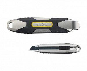 OLFA. Нож OLFA. Нож, X-design, цельная алюминиевая рукоятка, AUTOLOCK фиксатор, 18 мм  Нож с сегментированным лезвием OLFA OL-MXP-AL, предназначен для разрезания бумаги, картона, обоев и пленки. Инстр