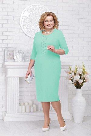Жакет, платье Ninele 2193 св.зеленый