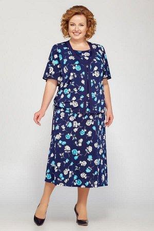 Туника, юбка LaKona Артикул: 1089 синий-голубой