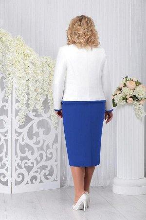 Жакет, платье Ninele 5728 василек