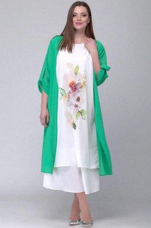 Накидка, платье SOVA Артикул: 11037 зеленый