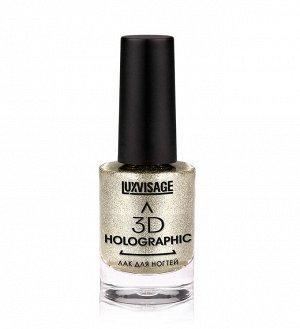 .Lux   лак для ногтей  Holographic 3 D  NEW 702  косм платина