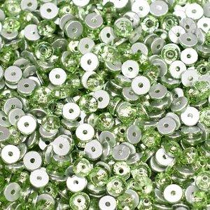 Стразы пришивные SS20 (4.6мм) хрустальные яблочно-зеленые, отв. 1мм.