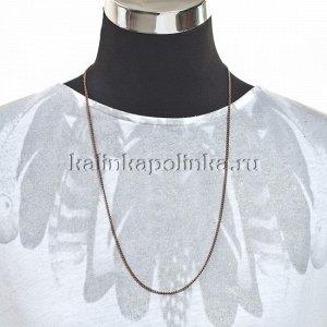 Уценка. (легко рвётся) Цепочка для бижутерии, железная, панцирное плетение, цвет медь, р-р 3.5х2.5х0.5мм