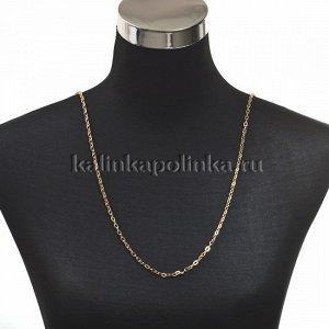 Цепочка для бижутерии, железная, якорное плетение, приплюснутая, цвет розовое золото, р-р 5.5х3.3х0.8мм