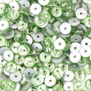 Стразы пришивные SS16 (3.8мм) хрустальные яблочно-зелёные, отв. 0,5мм.
