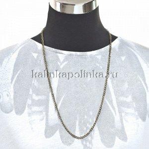 Цепочка для бижутерии, железная, панцирное плетение, цвет бронза, р-р 5.5х3.7х0.8мм