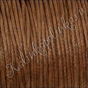Шнур вощеный хлопковый, цвет оранжево-коричневый, в пасме 72метра