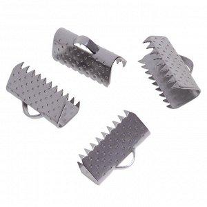 Зажимы для лент, хирургическая сталь, р-р 13х8мм, отв-е 1.7мм