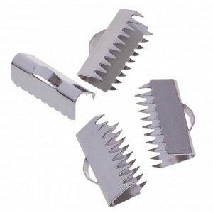 Зажимы для лент, хирургическая сталь, р-р 15х9.2мм, отв-е 1.5мм